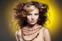 Beautiful woman with stylish hairstyle Royalty Free Stock Photo