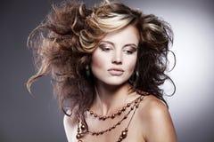 Beautiful woman with stylish hairstyle Royalty Free Stock Image