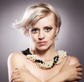Beautiful woman with stylish hairstyle Royalty Free Stock Photography