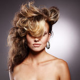 Beautiful woman with stylish hairstyle Royalty Free Stock Photos
