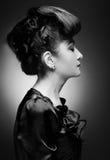 Beautiful woman with stylish hairstyle Stock Image