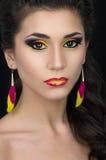 Beautiful woman with stylish make-up Stock Photo