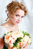 Beautiful woman with stylish make-up and hairdo Royalty Free Stock Photo