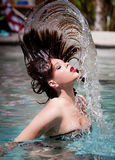 Beautiful Woman in Summer Royalty Free Stock Image
