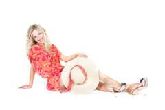 Beautiful woman in summer dress Royalty Free Stock Images