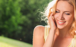 Beautiful woman in summer nature Royalty Free Stock Photography