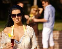 Beautiful woman at summertime Stock Photography