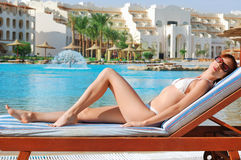 Beautiful woman sunbathing Royalty Free Stock Photos