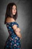 Beautiful woman in sundress. Royalty Free Stock Images