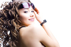 Beautiful woman in sunglasses Royalty Free Stock Photography
