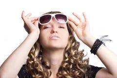 Beautiful woman with sunglasses Stock Photo