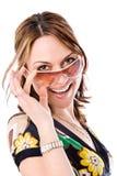 Beautiful woman with sunglasses Stock Image
