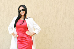 Beautiful woman in sunglasses. Portrait of beautiful woman in sunglasses stock photos