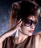 Beautiful  woman with sunglasses Royalty Free Stock Images