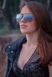 Beautiful woman in sunglasses Stock Photos