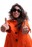 Beautiful woman with sunglasses Royalty Free Stock Photos