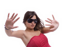 Beautiful woman in sunglasses Stock Photo