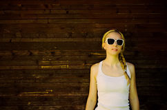Beautiful woman in sunglasses Royalty Free Stock Photos