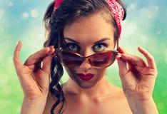 Beautiful woman with sunglasses Stock Photos