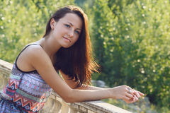 Beautiful woman on a sunny day Stock Image