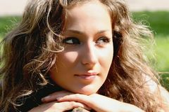 Beautiful woman in sunshine Royalty Free Stock Image