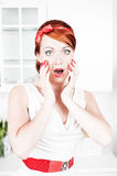 Beautiful woman surprised Royalty Free Stock Photos