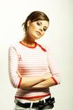 Beautiful woman in  sweater Stock Photos