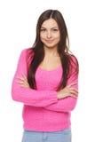 Beautiful woman in sweater stock image