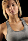 Beautiful woman sweating. After workout Royalty Free Stock Images