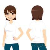 Beautiful Woman T-shirt Royalty Free Stock Photos