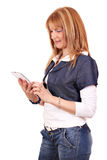 Beautiful woman with tablet pc Royalty Free Stock Photo
