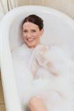 Beautiful woman taking a bath Royalty Free Stock Photo