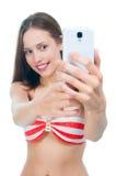 Beautiful woman taking a photo Stock Photo
