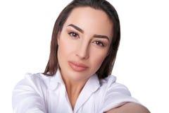 Beautiful woman taking selfie Royalty Free Stock Photos