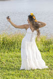 Beautiful Woman Taking A Selfie Stock Image