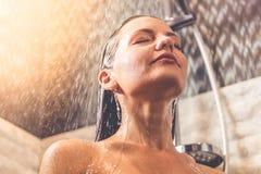Beautiful woman taking shower Stock Photography