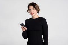 Beautiful woman talking Royalty Free Stock Photos