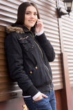 Beautiful woman talking on cell phone. Royalty Free Stock Photo