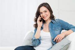 Beautiful Woman Talking On Cellphone Stock Image
