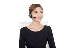 Beautiful woman talking on headset,helpdesk Stock Photos
