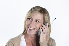 Beautiful Woman Talking on Phone Royalty Free Stock Image
