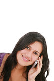 Beautiful woman talking on the phone Royalty Free Stock Photos