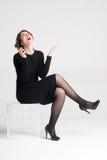 Beautiful woman talking Stock Photography