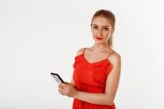 Beautiful woman talking Royalty Free Stock Images