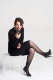 Beautiful woman talking Stock Photo