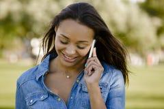 Beautiful woman talking at phone Stock Photo