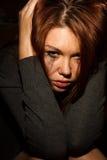 Beautiful woman in tears. Royalty Free Stock Image