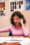 Beautiful woman with telephone Royalty Free Stock Images
