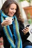 Beautiful Woman Text Messaging Stock Photo