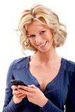 Beautiful woman texting Royalty Free Stock Photography